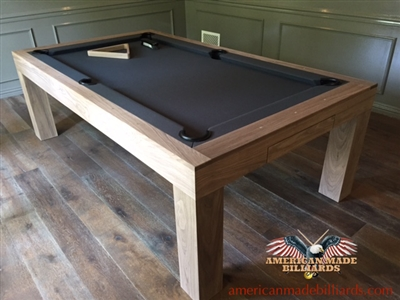 Modern Pool Tables Raw Walnut